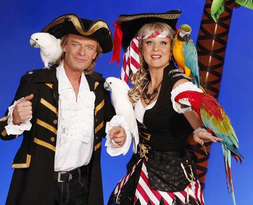 Piraten-Papageien-Show