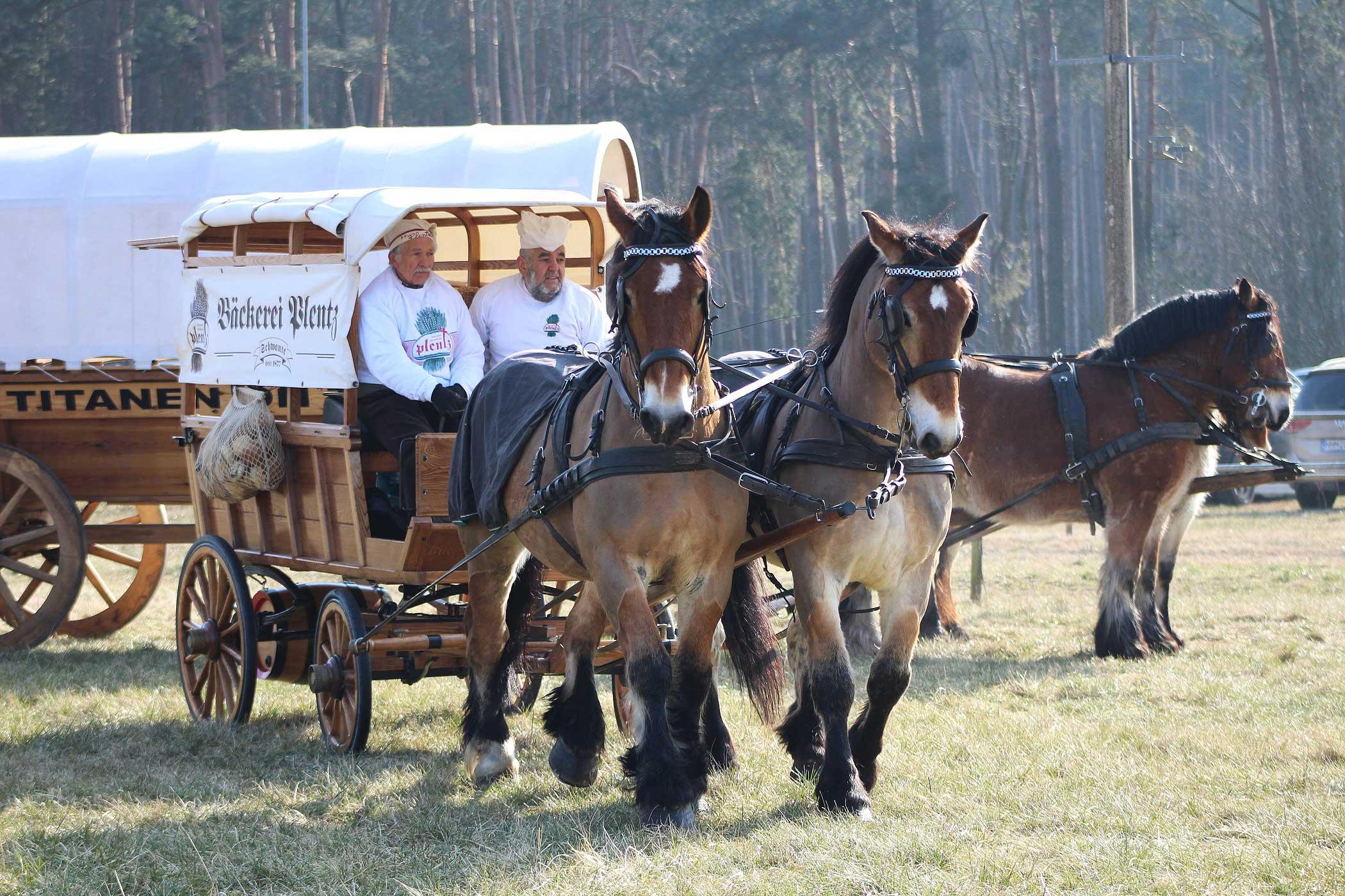 Titanen on tour 2018 - Wagen der Bäckerei Plentz