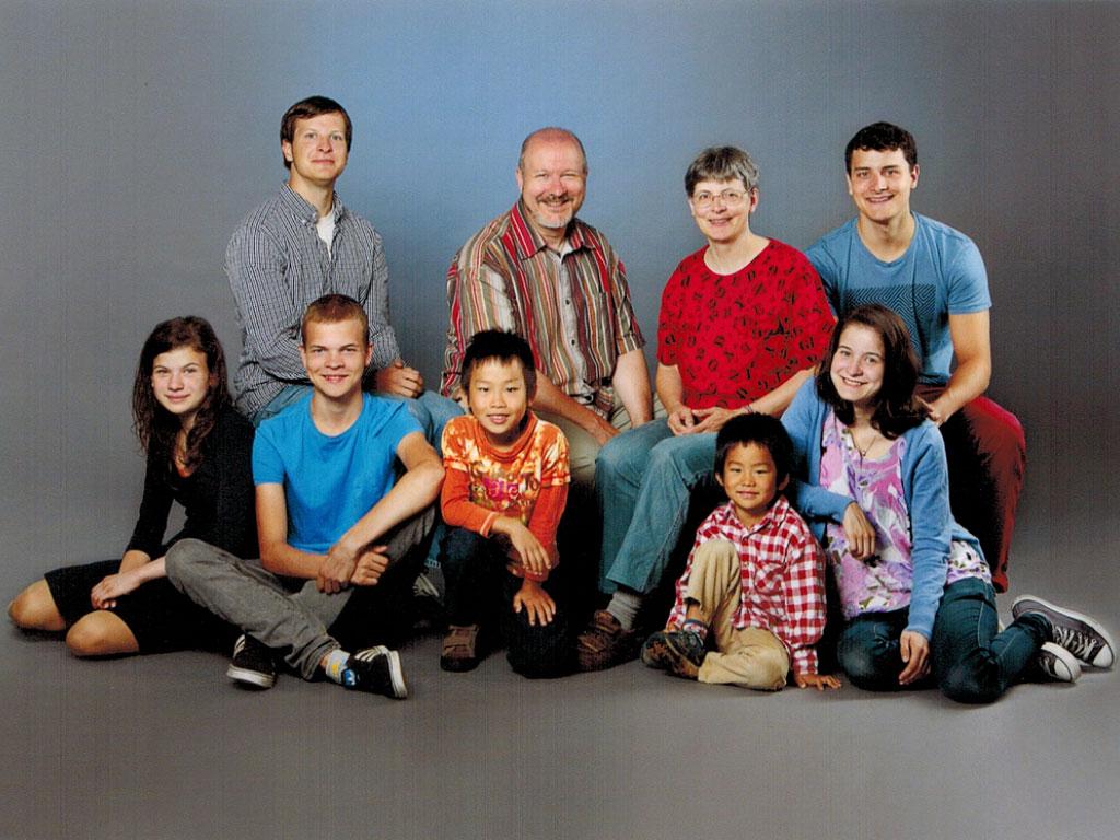 Dr. Martin Heißwolf mit Familie