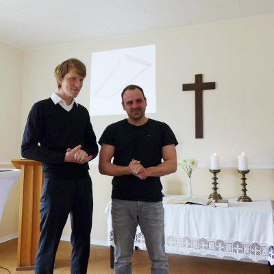 Malermeister Enrico Dörrwand - Ehrengast beim Gottesdienst