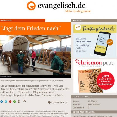 Screenshot evangelisch.de