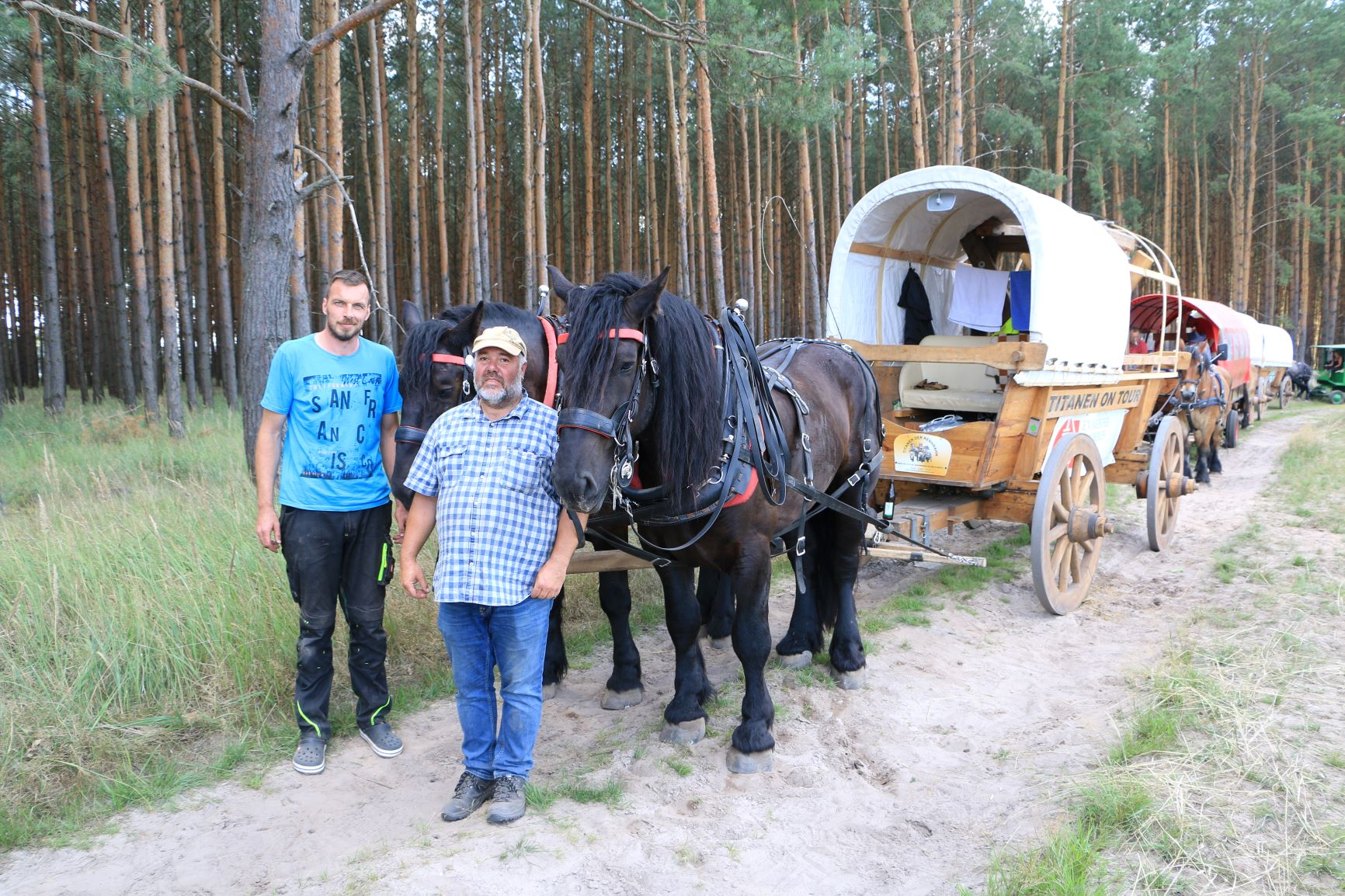 Titanen on tour 2018 - Mirko 1. von links mit seinen Pferden