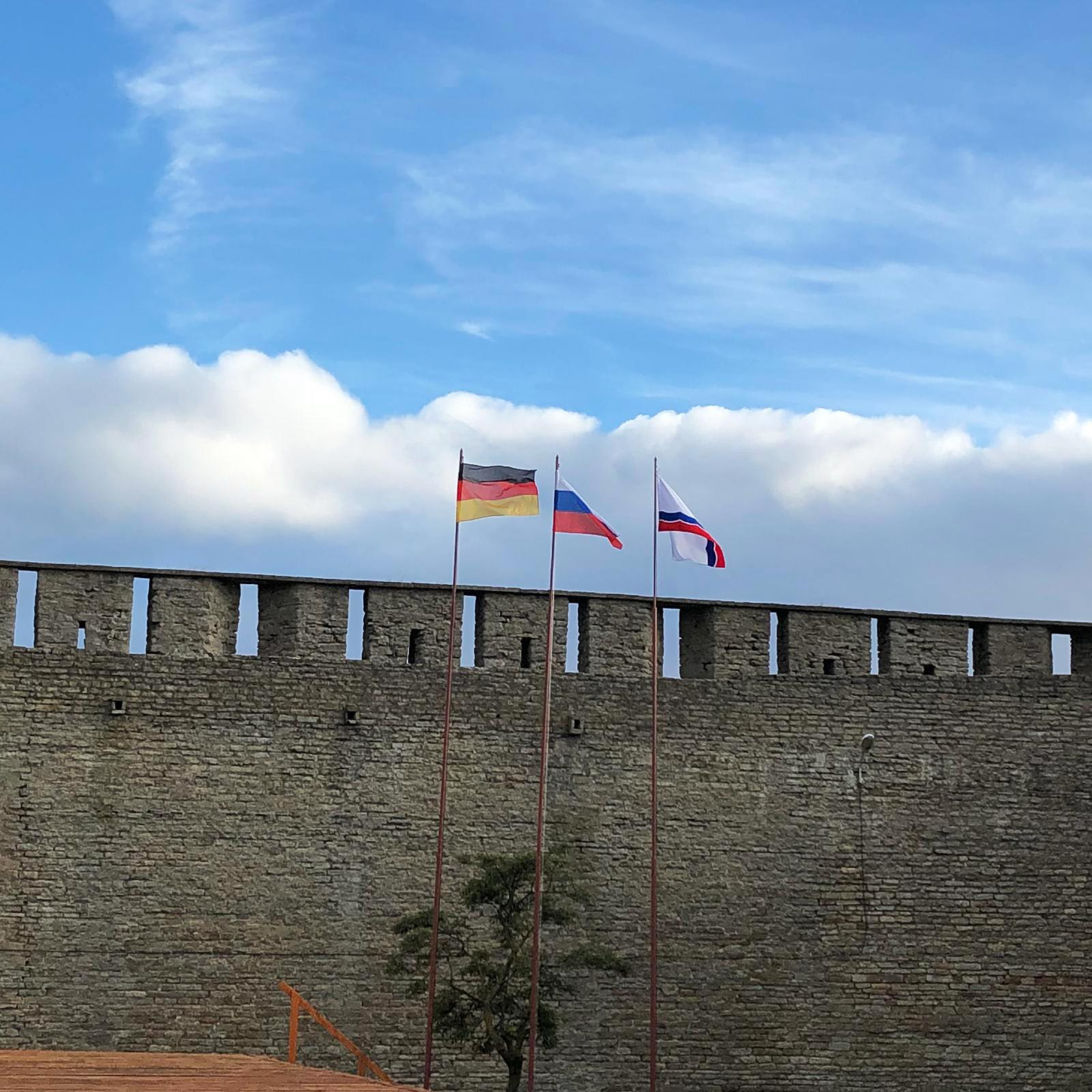Fahnen - Titanen on tour in Russland