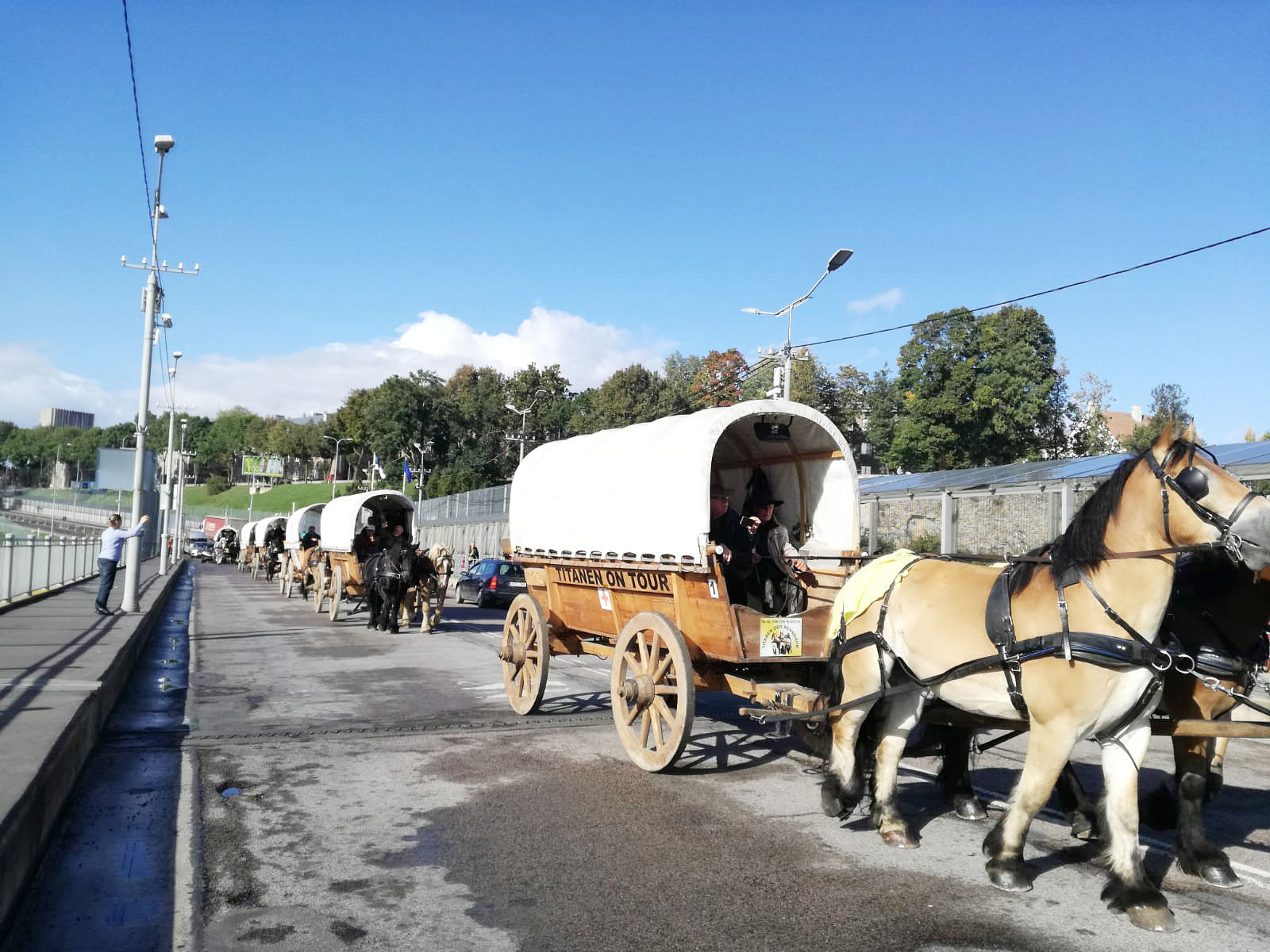 Grenzübergang Russland - Titanen on tour in Russland