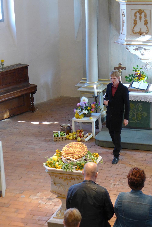 Erntedankgottesdient zum Erntefest 2018 in Brück