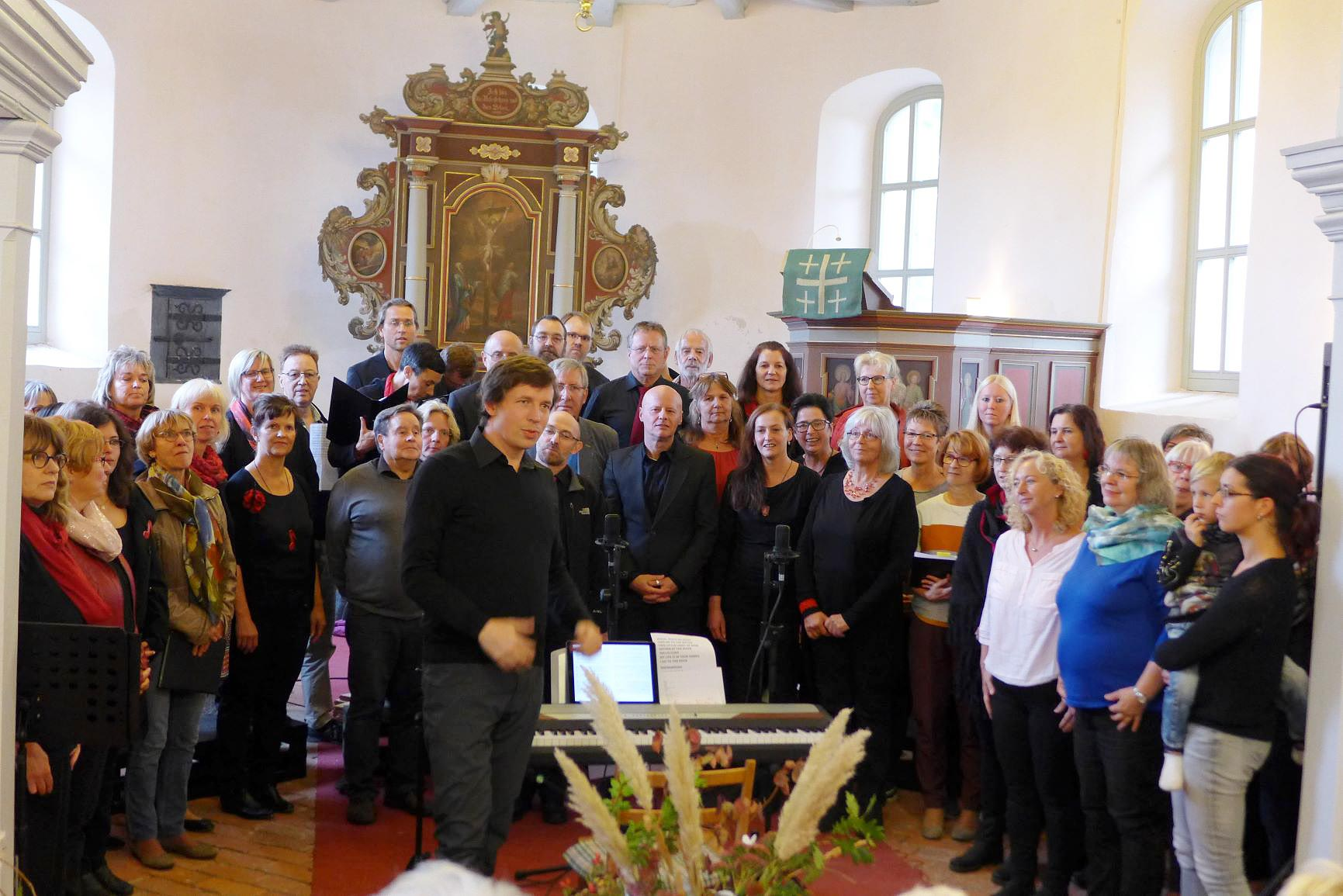 Gospelchor mit Gästen und Ilja Panzer - Gemeindefest 2018