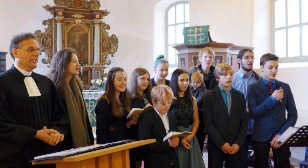 Konfirmation von Melvin Fischer - Gottesdienst Brück-Rottstock