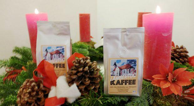 """Fairgehandelter """"Lambertuskaffee"""" beim Brücker Weihnachtsmarkt"""