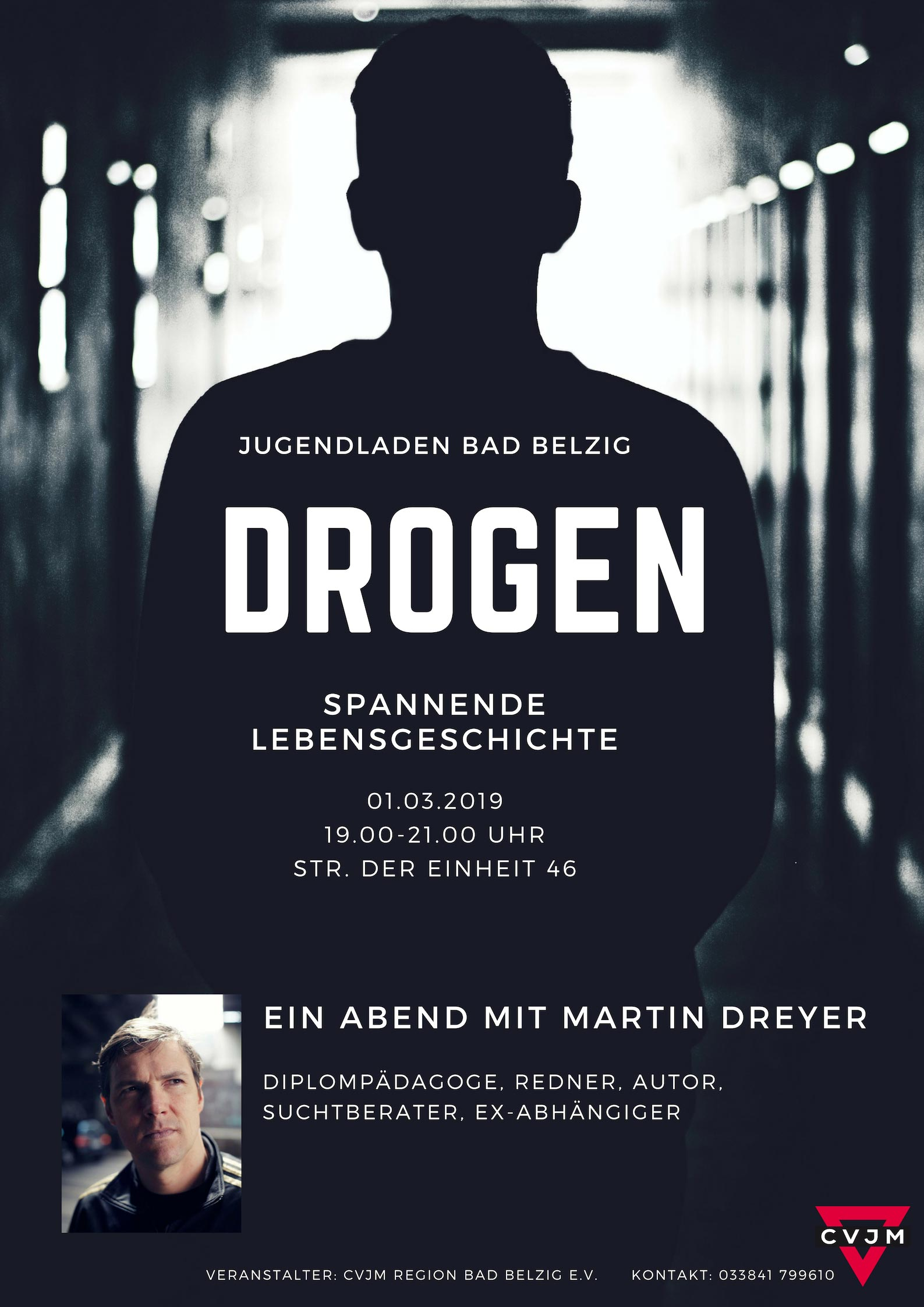 DROGEN – Infoabend des CVJM in Bad Belzig mit Martin Dreyer