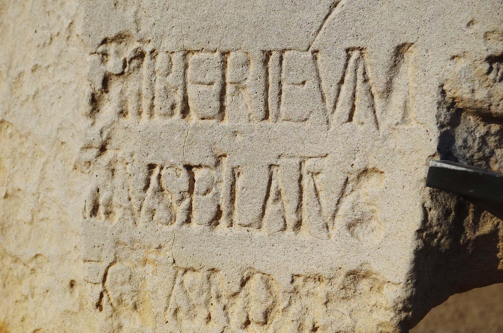 Pilatusinschrift in Caesarea