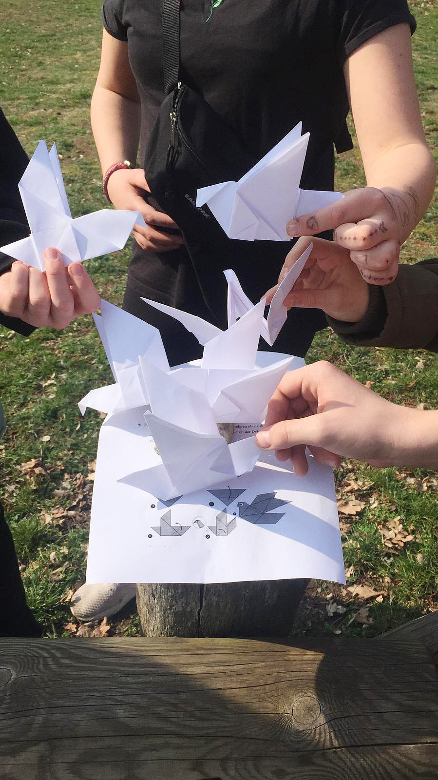 Origami-Friedenstauben