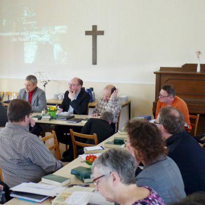 Passionszeit 2019: Prof. Jens Schröter und 30 Pfarrer aus dem Kirchenkreis in Brück