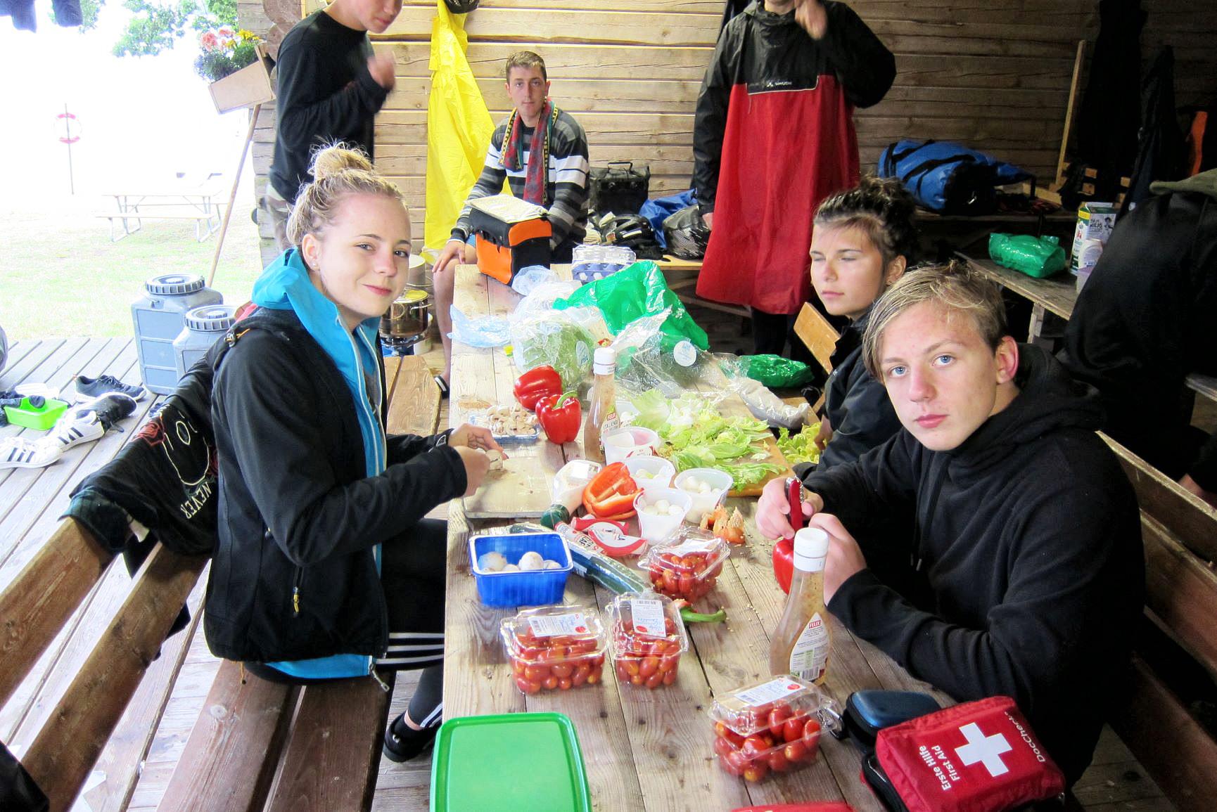 Essen wir gemeinsam gemacht - Schwedenfahrradtour 2019