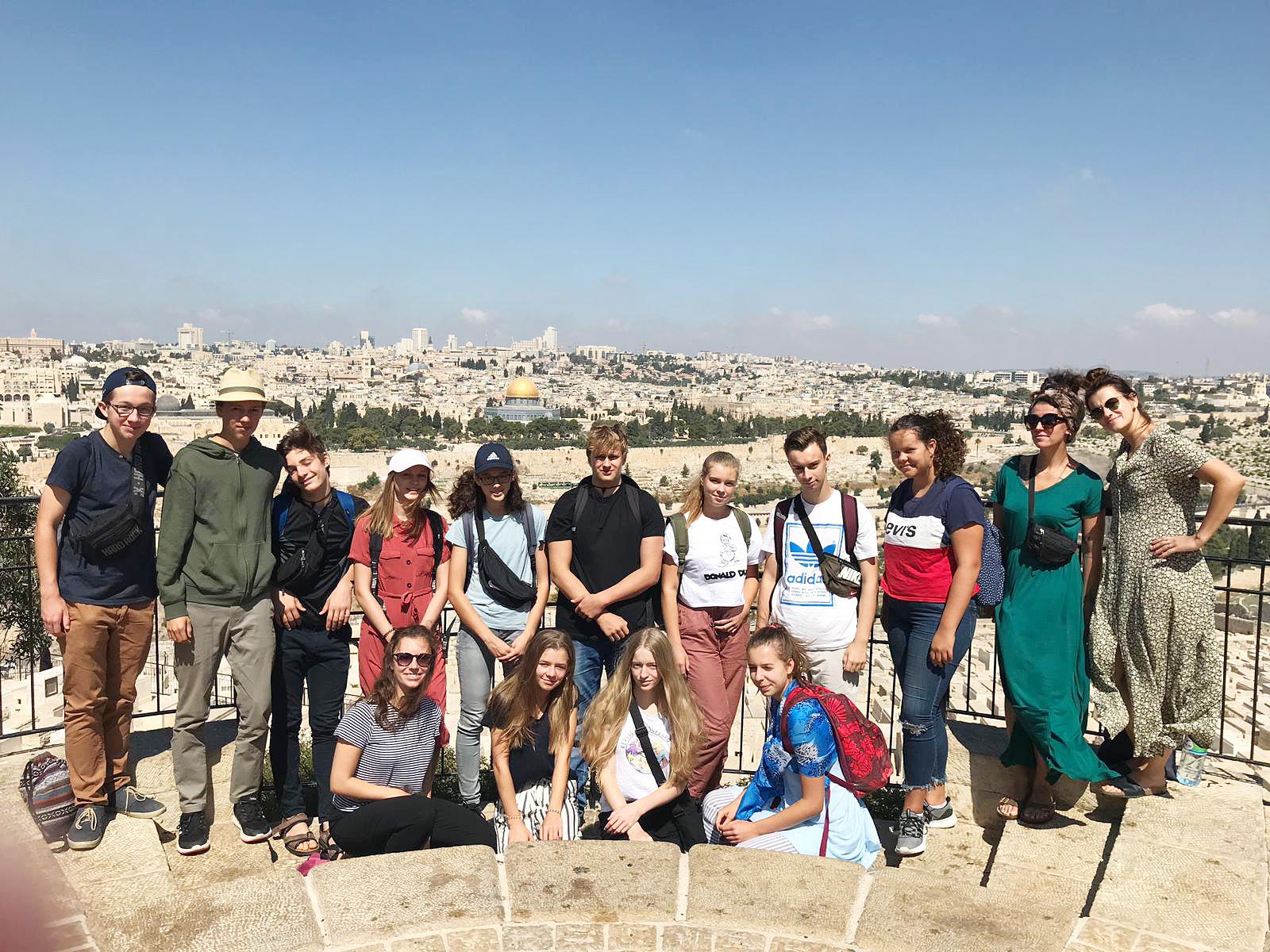 Die deutsche Gruppe in Jerusalem - Jugendaustausch Le Chaim Israel-Belzig