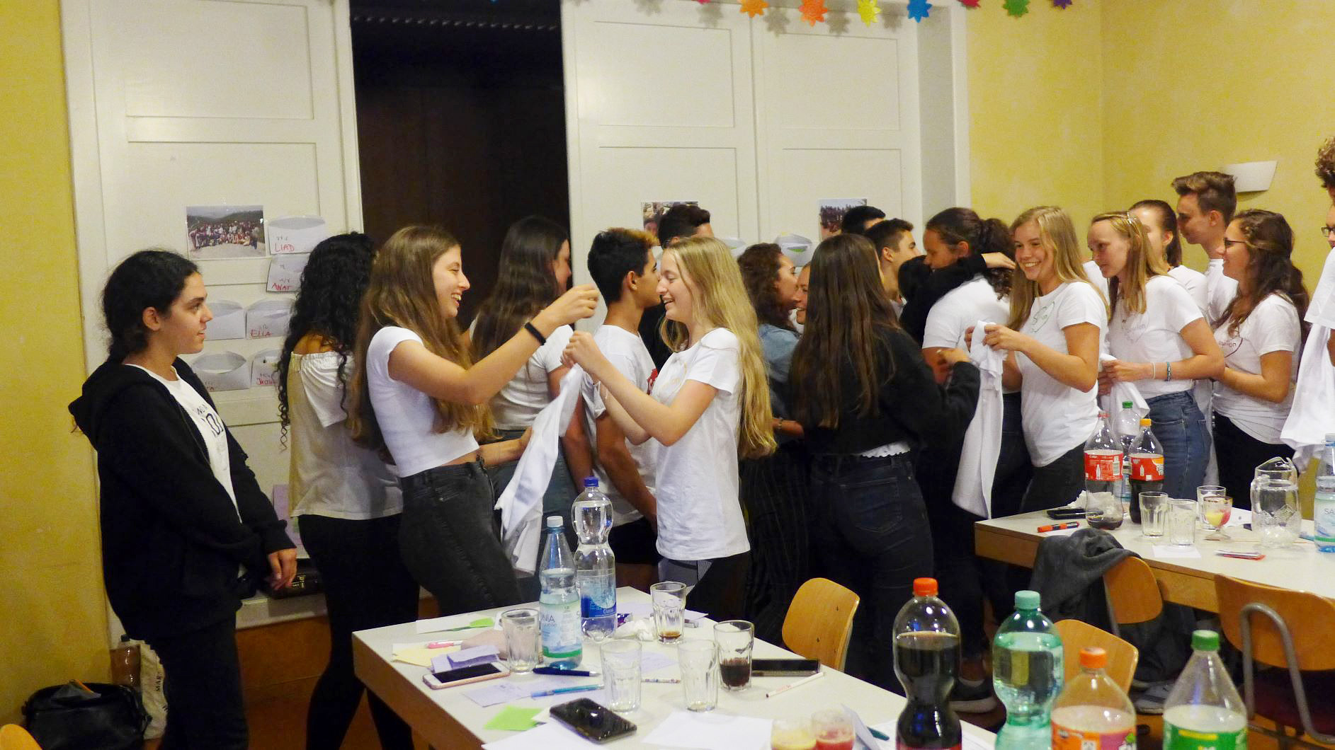 T-shirts zum Abschied - Jugendaustausch Le Chaim Israel-Belzig
