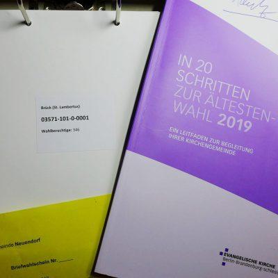Gemeindekirchenratswahl 2019 wird vorbereitet