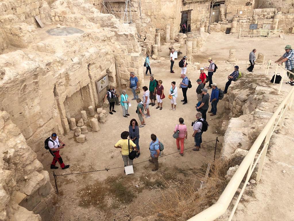 Israelreise 2019 - Gruppe im Herodium