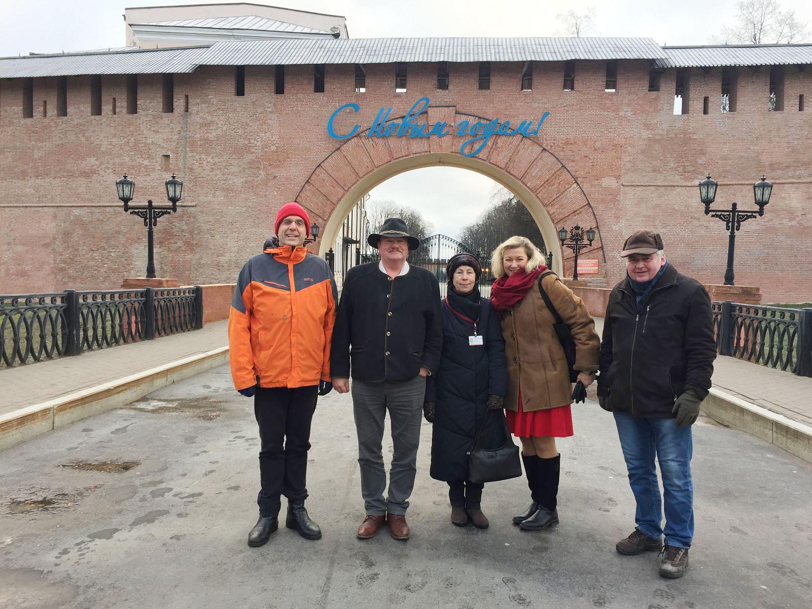 Volksdiplomaten in Nowgorod - Brücker Volksdiplomaten auf Mission