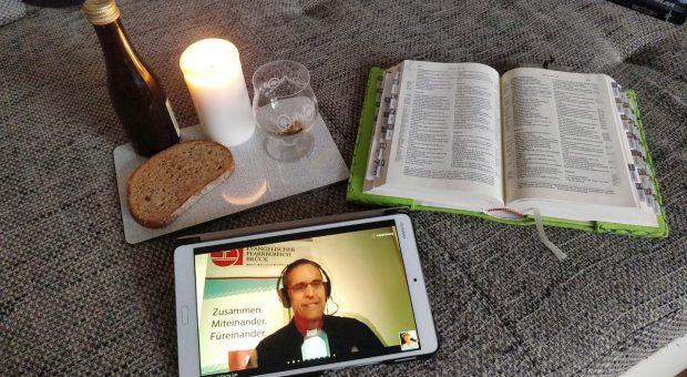 Abendmahls-Gottesdienst über das Internet oder Telefon