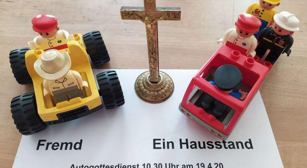 Auto-Gottesdienst in Brück