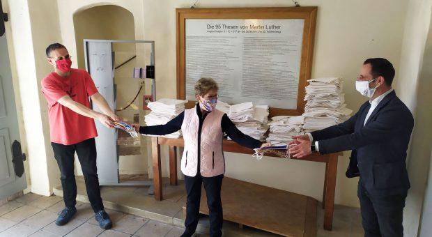 Bundestagsabgeordnete Dietlind Tiemann, Amtsdirektor Köhler und Pfarrer Helmut Kautz