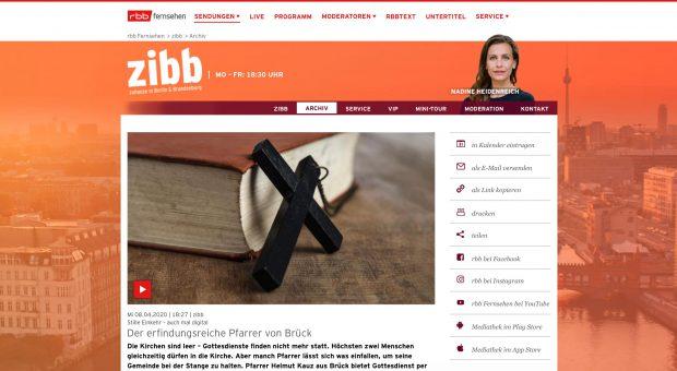 rbb zibb: Der erfindungsreiche Pfarrer von Brück