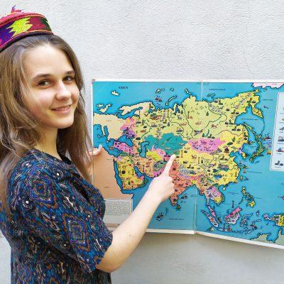 Nadja Djumana Kautz sammelt Geld für Kirgisien