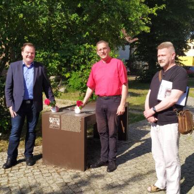 Gedenken an Gregor von Brück am 25.6.2020 mit Michael Klenke, Helmut Kautz, Heino Winkler