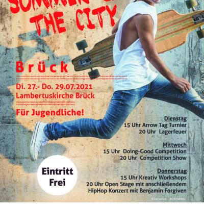 Jugendwoche Brück 2021 - Plakat